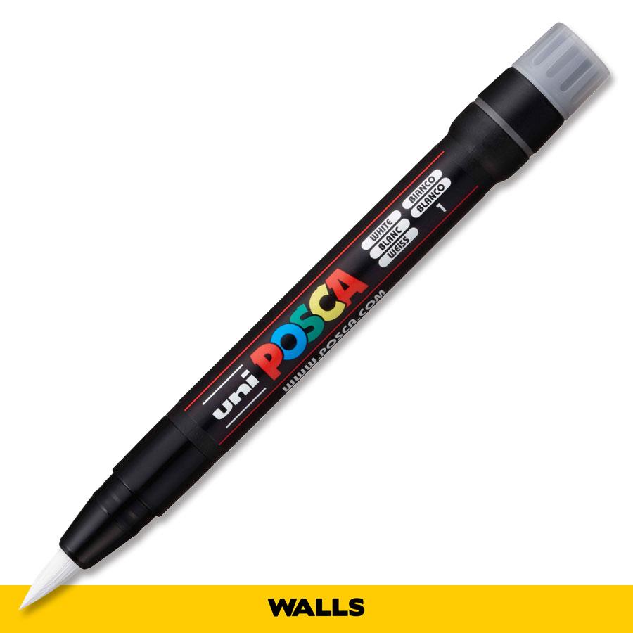 Caneta Brush Posca PCF 350 Branca