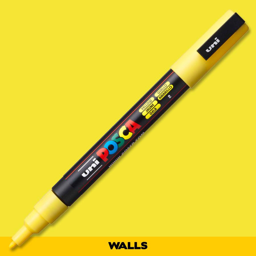 Caneta Posca 3M  Amarela