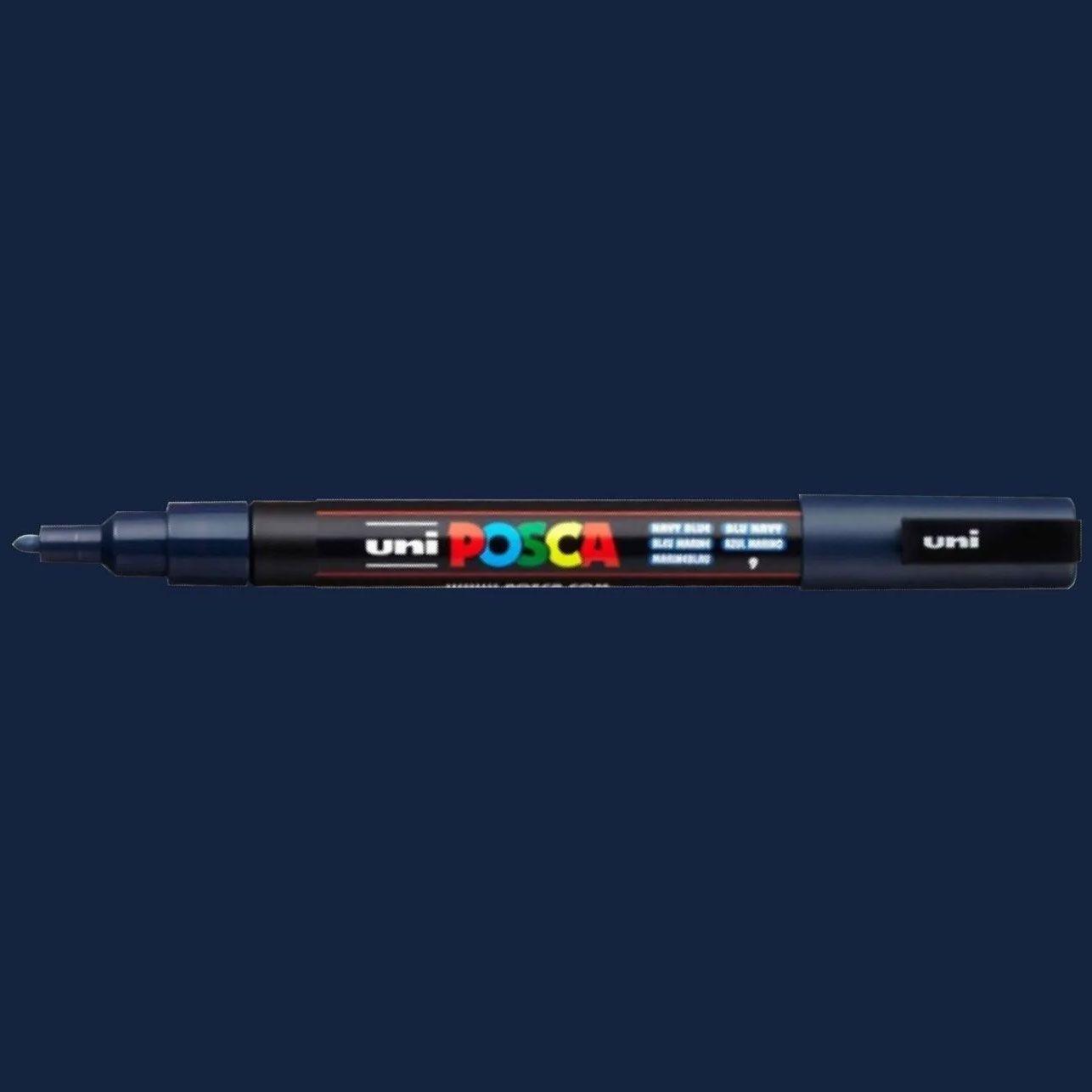 Caneta Posca 3M Azul Marinho