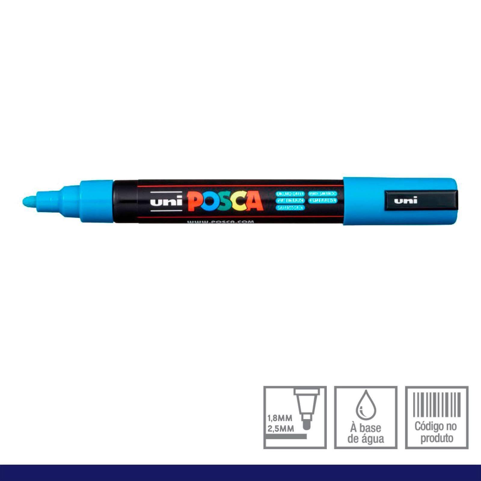 Caneta Posca 5M Azul Claro