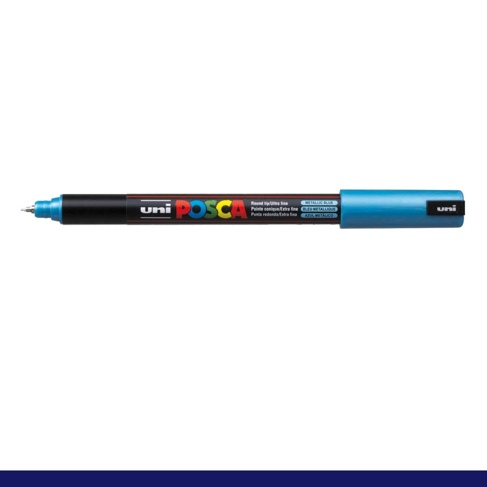 Caneta Posca PC 1MR Azul Metálico