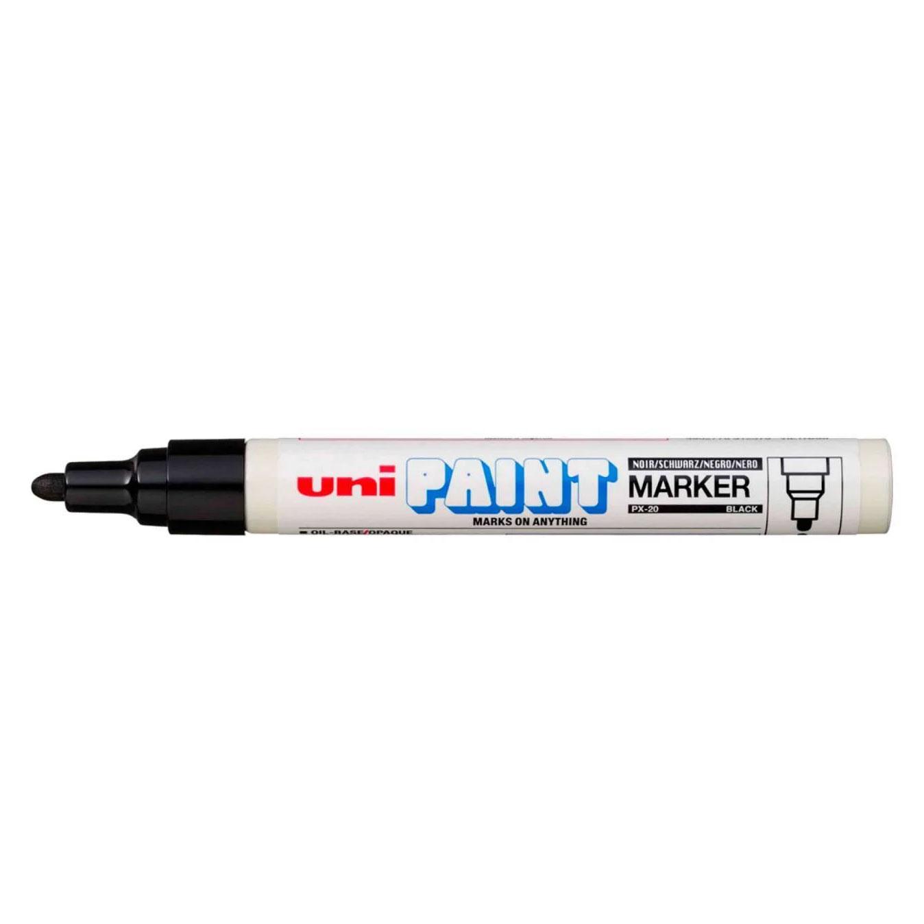 Caneta Uni Paint PX20 Preta