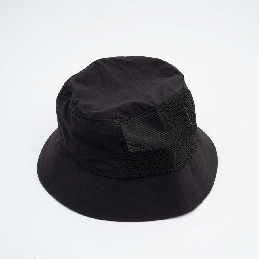 Chapéu High Bucket Hat Half Mesh Black