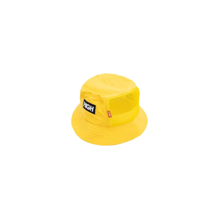 Chapéu High Bucket Hat Half Mesh Yellow