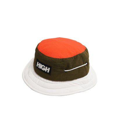 Chapéu HIGH Nautical Bucket Hat Logo Green/White