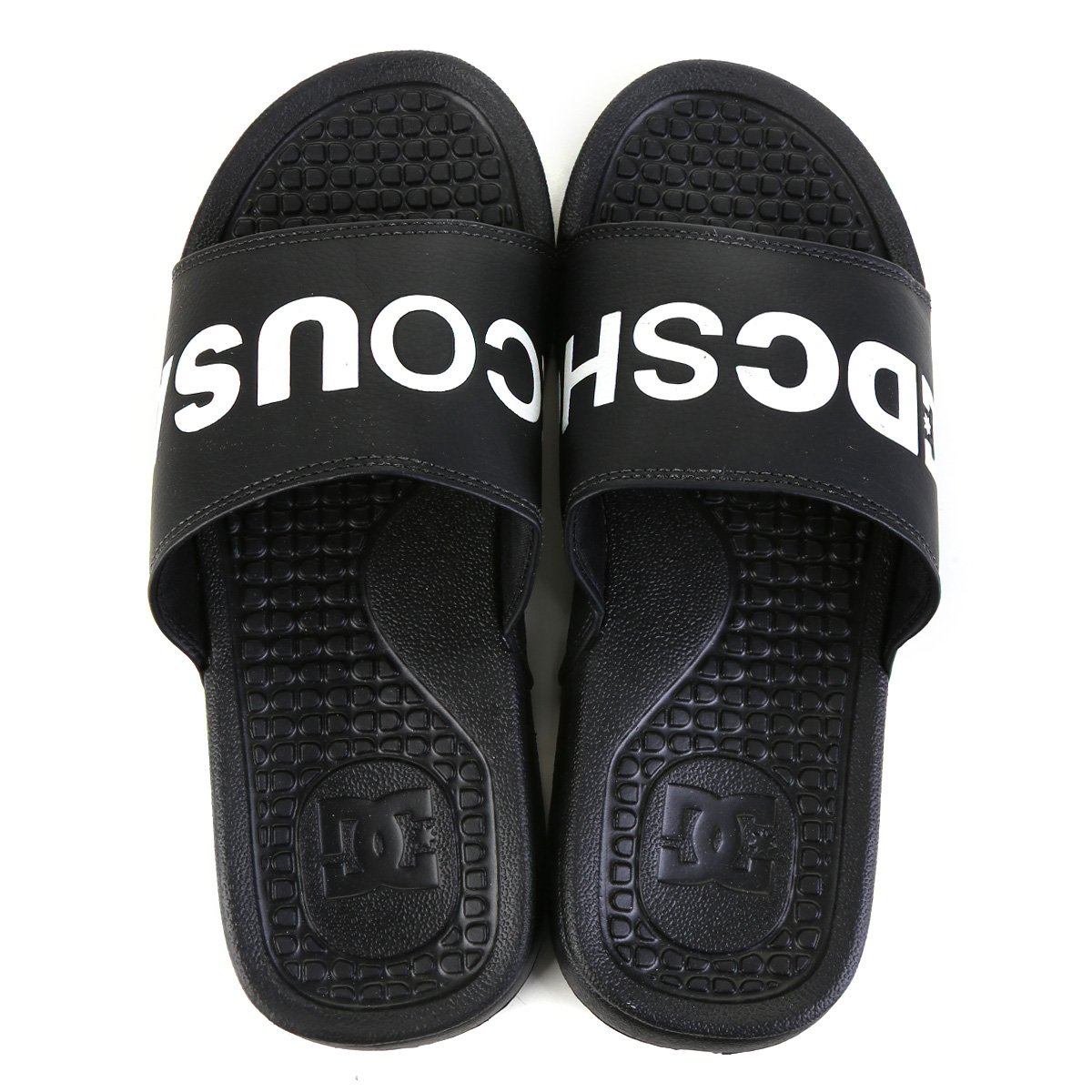 Chinelo DC Shoes Black White