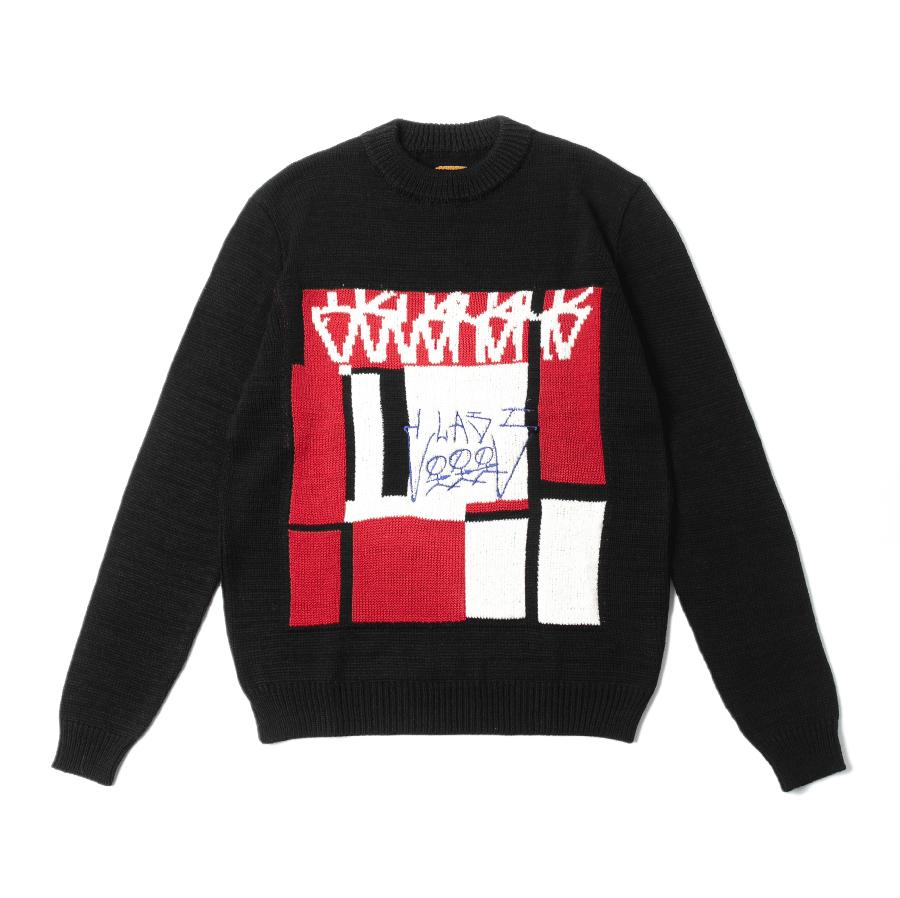 Class Jacquard Sweater OSCURURU Black