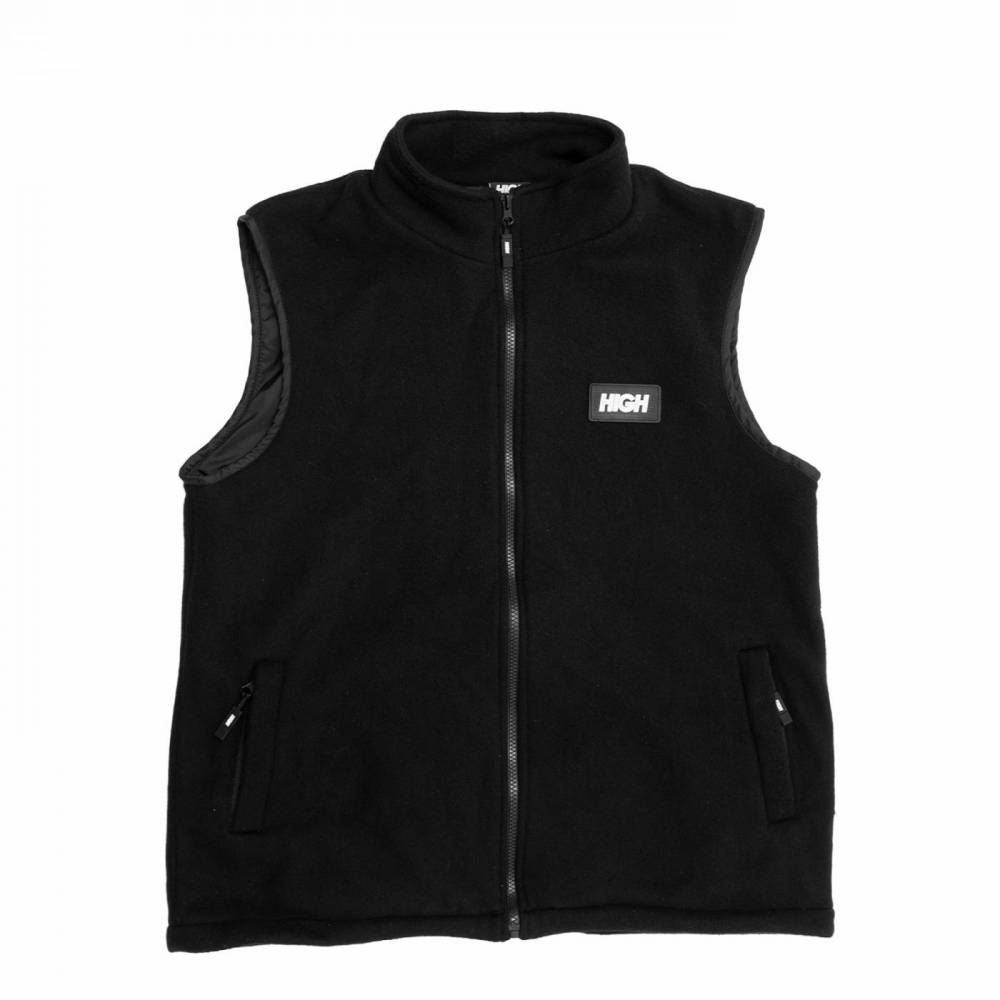 Colete HIGH Fleece Vest Logo Black