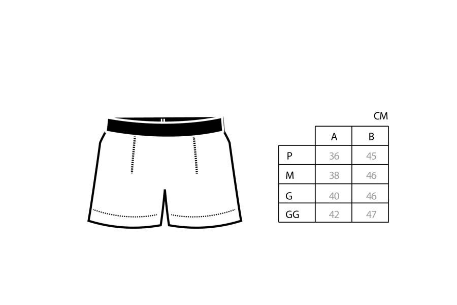 Cueca Boxer Shorts Class Grey
