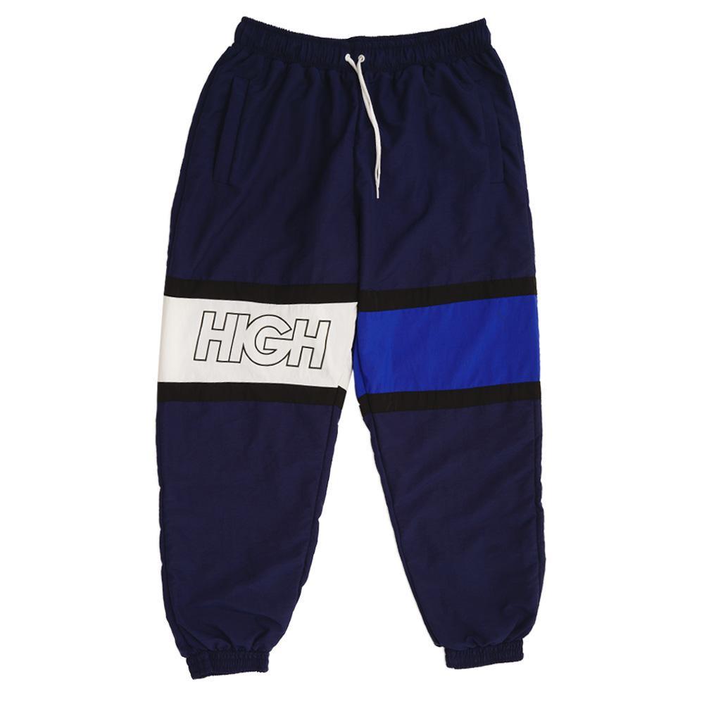 HIGH Company Track Pants Logo Tricolor Navy Black