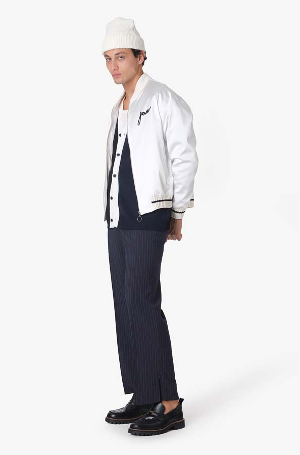 Jaqueta Pace Los Asian Tigers Satin Bomber Off White