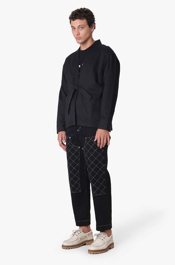 Kimono Pace Noragi Jacket Tajima Black