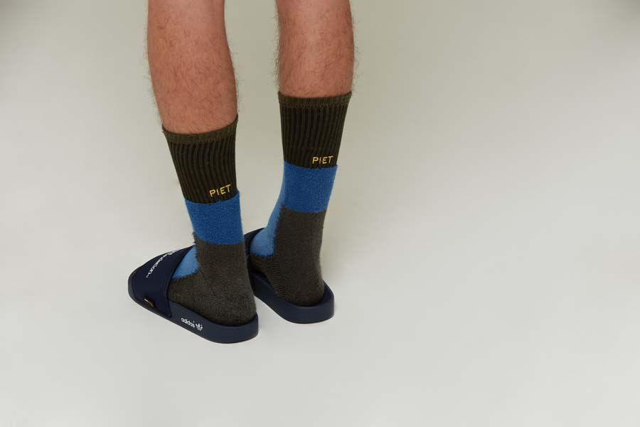 Meia PIET Inside Out Socks Blue