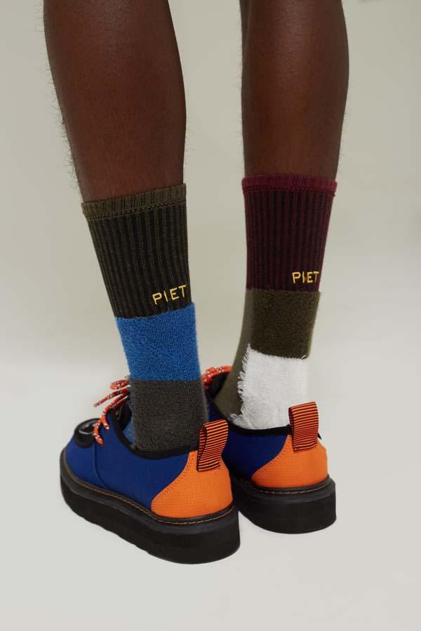 Meia PIET Inside Out Socks Gray