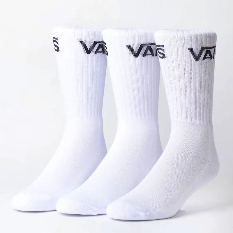 Meia Vans Classic Crew Kit 3 Pares White