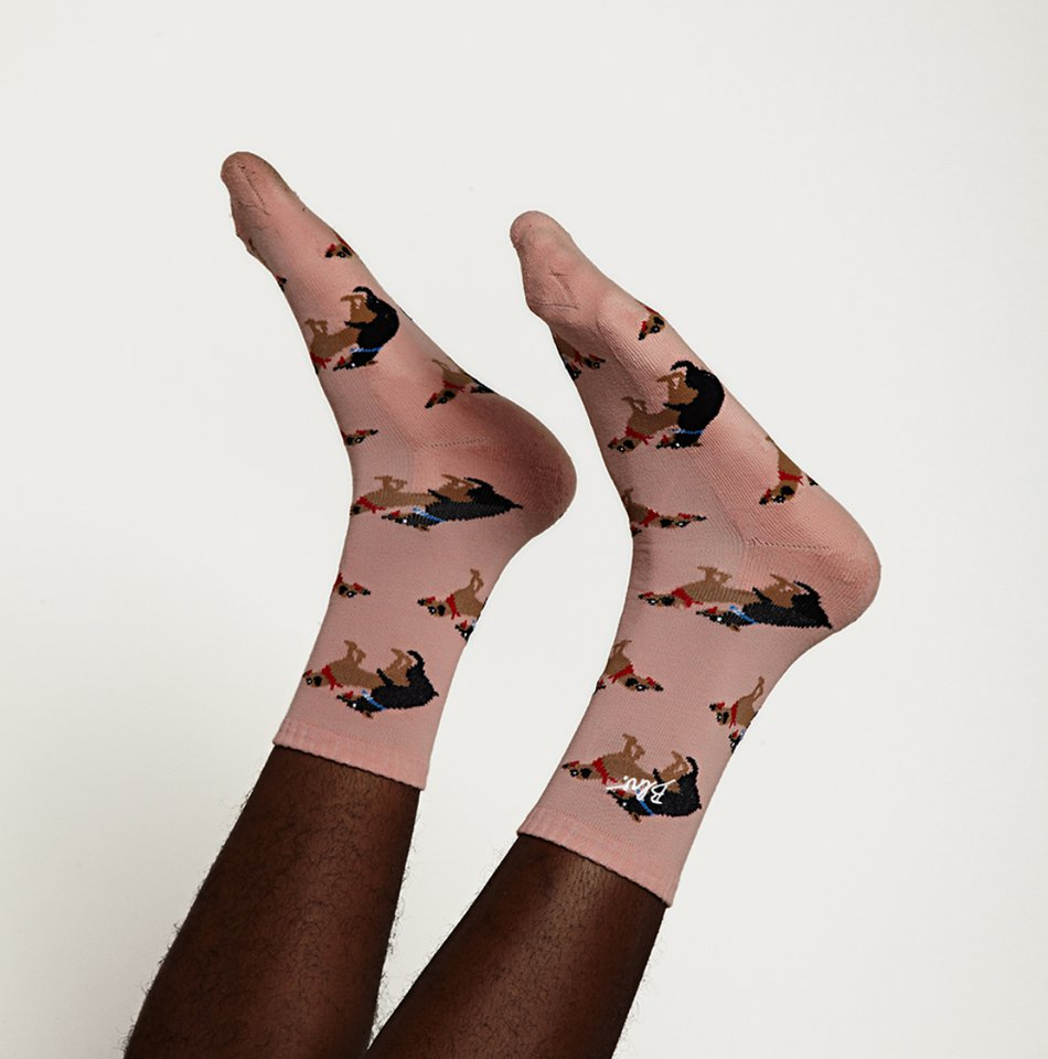 Meias Bolovo Doggy Style Socks Rosa