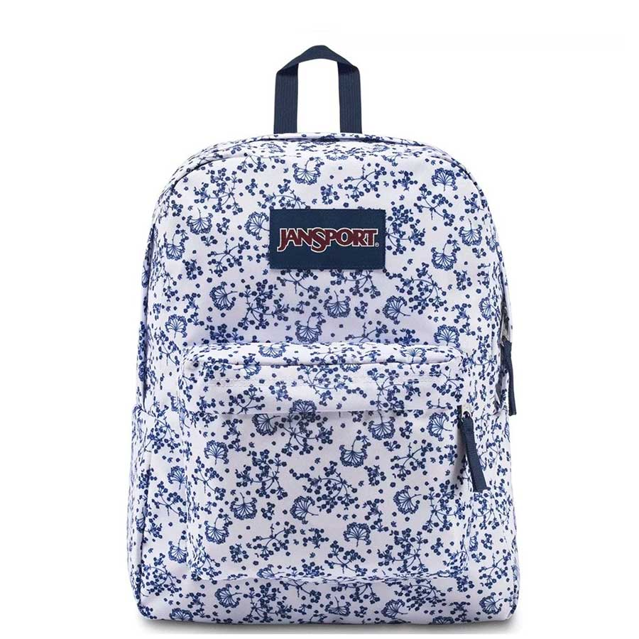 Mochila Jansport Superbreak White Field Floral