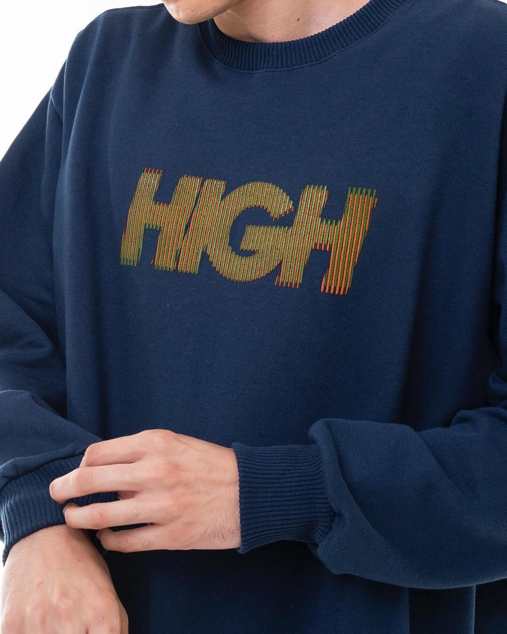Moletom High Crewneck Olograph Logo Blue