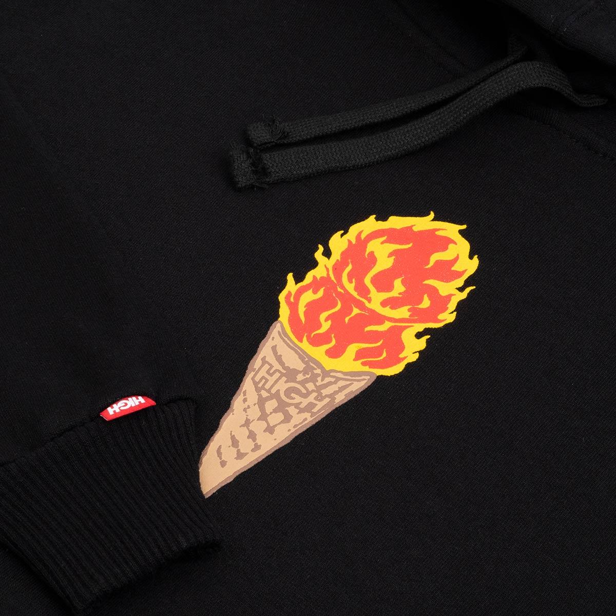 Moletom High Hoodie Fire Cream Black