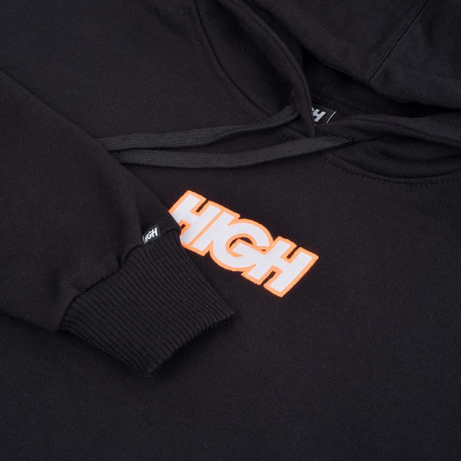 Moletom High Hoodie Logo Colored Black