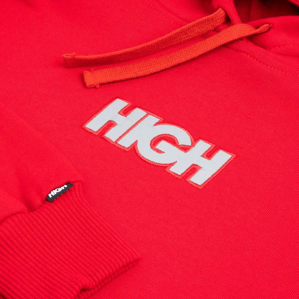 Moletom High Hoodie Reflective Logo Red