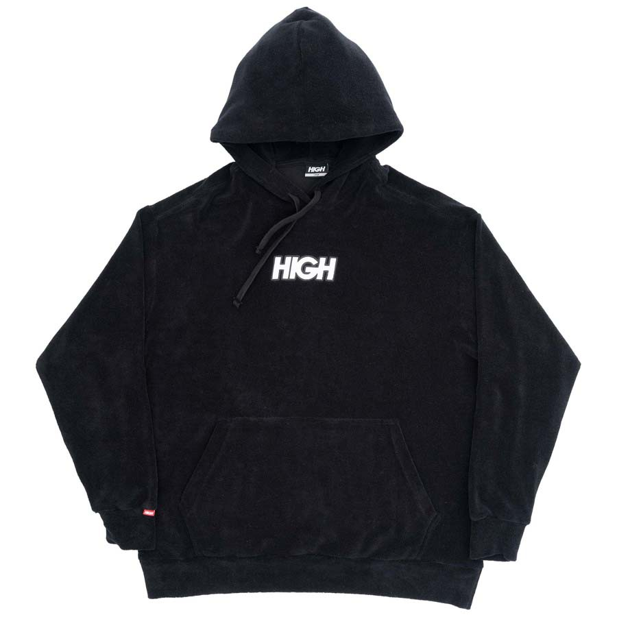 Moletom High Terry Hoodie Logo Black
