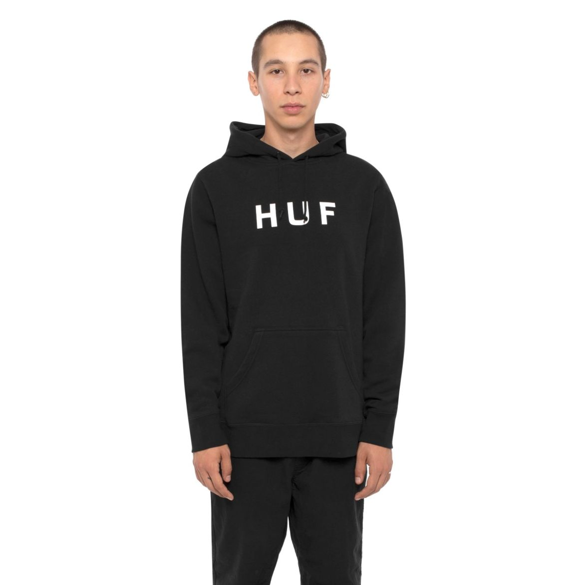 Moletom HUF Essentials OG Logo Black