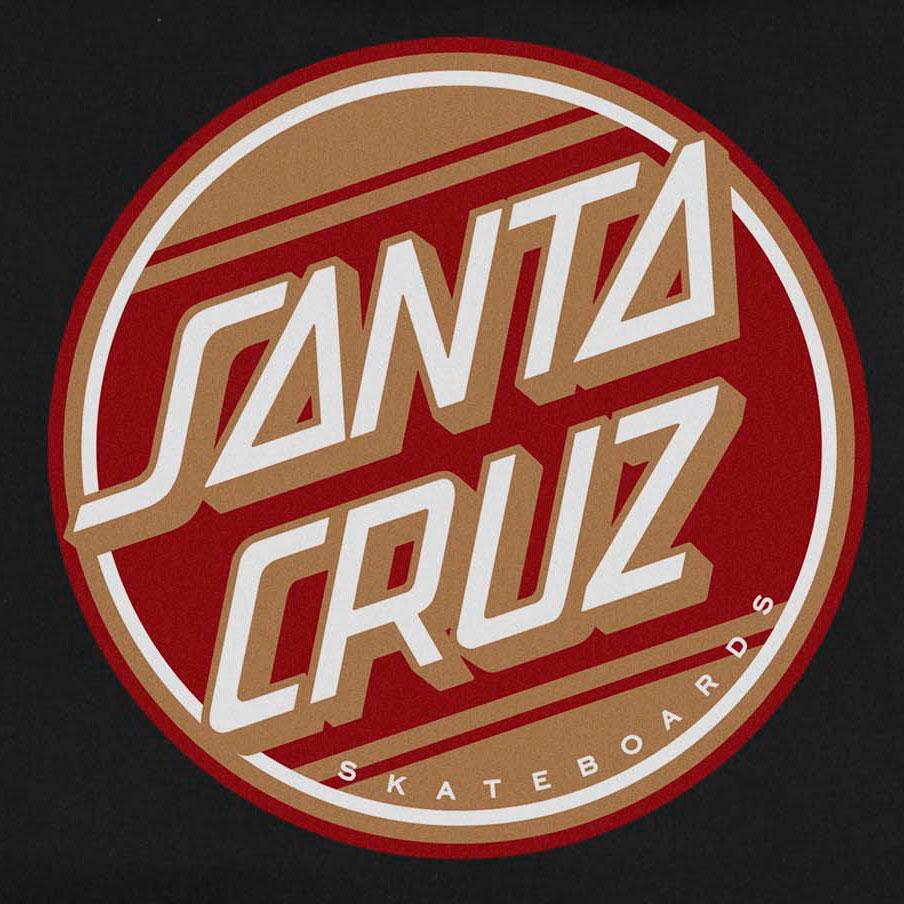 Moletom Santa Cruz Canguru Street Dot Black