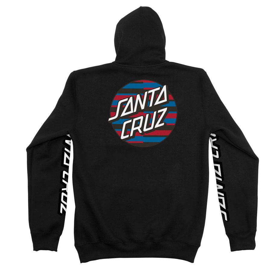 Moletom Santa Cruz Canguru Strip Stripe Dot Black