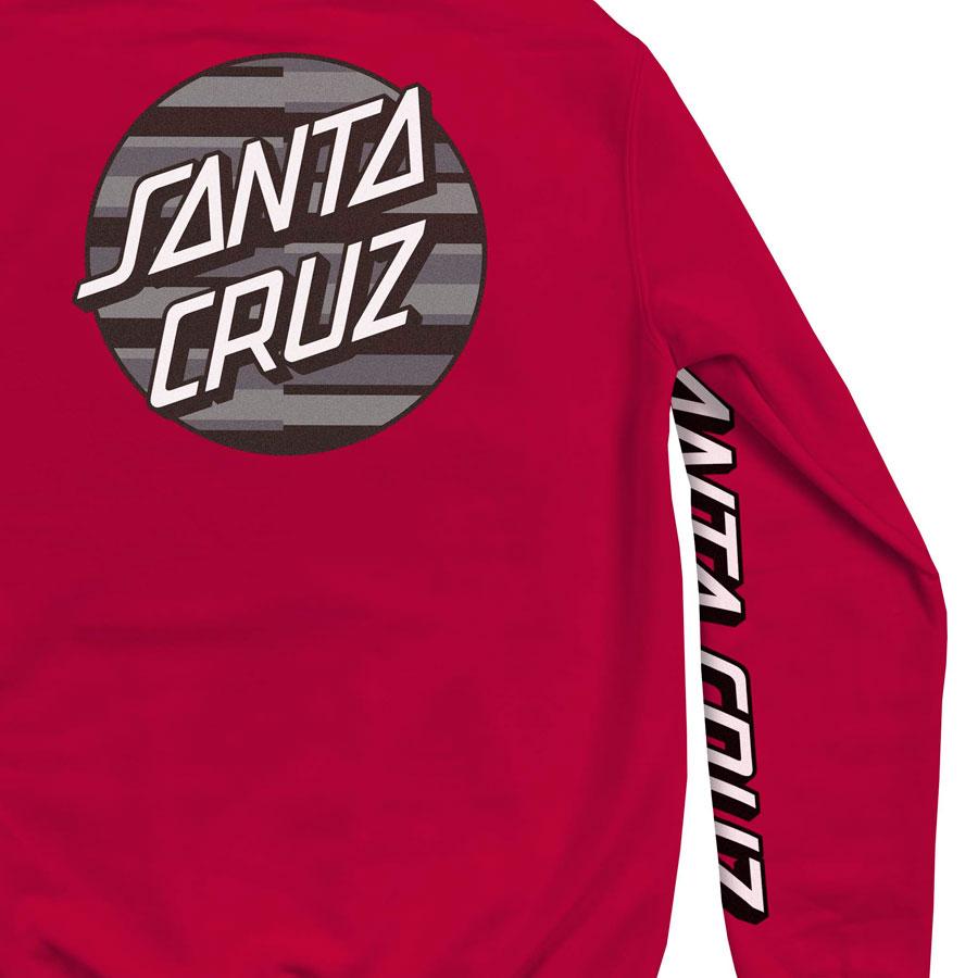 Moletom Santa Cruz Canguru Strip Stripe Dot Red