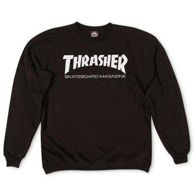 Moleton Thrasher Skate Mag Crewneck Preto