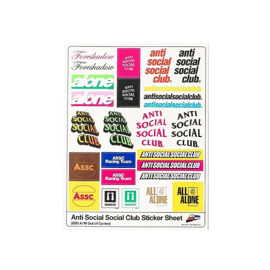 Pack de Stickers Anti Social Social Club Sponsored
