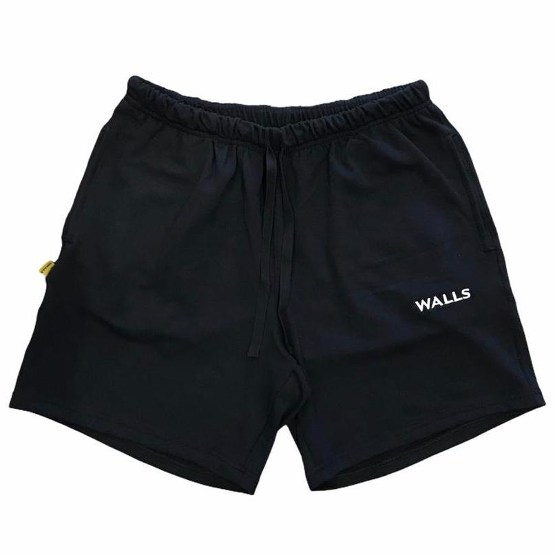 Shorts WALLS Basic Logo Moletinho Preto