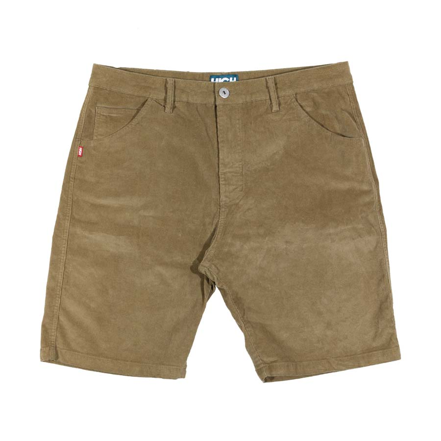 Shorts High Corduroy Chino Shorts Caramel