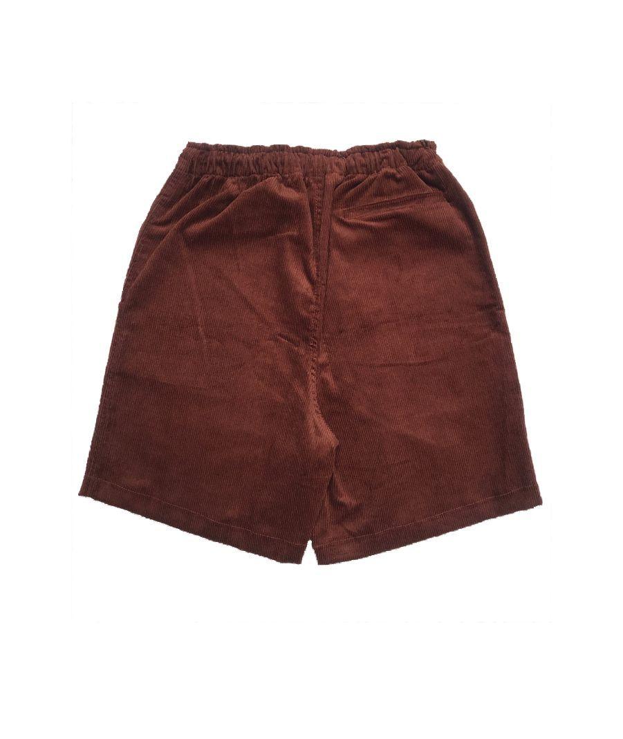 Shorts No Future Veludo Cotelê Ferrugem