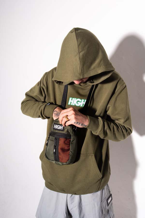 Shoulder Bag High Side Block Olive Green/Orange