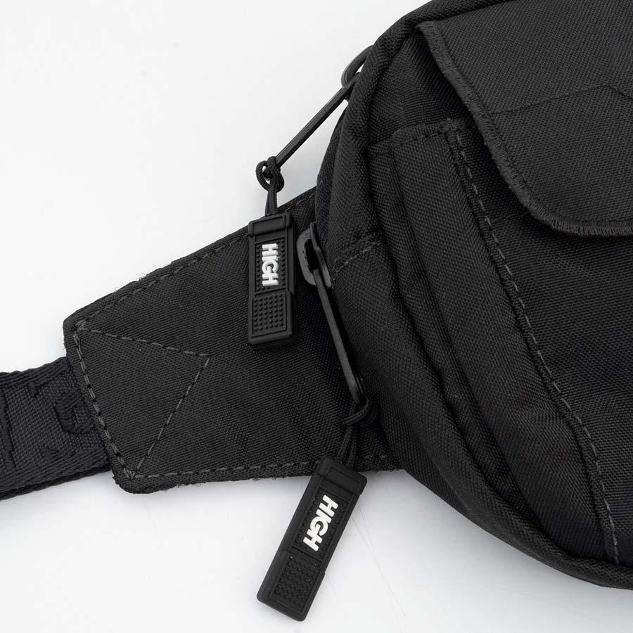 High Shoulder Small Waist Bag Black
