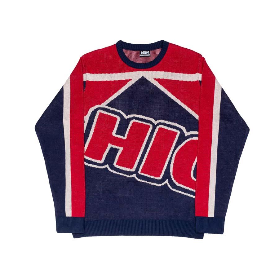 Sweater High School Navy/Red
