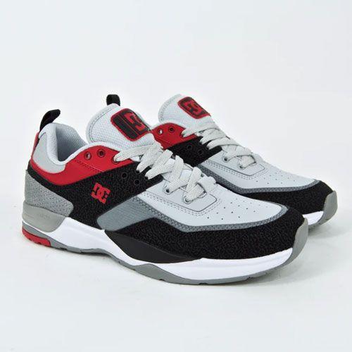 Tênis DC Shoes E. Tribeka Shoes Black / Athletic Red / Battleship Grey