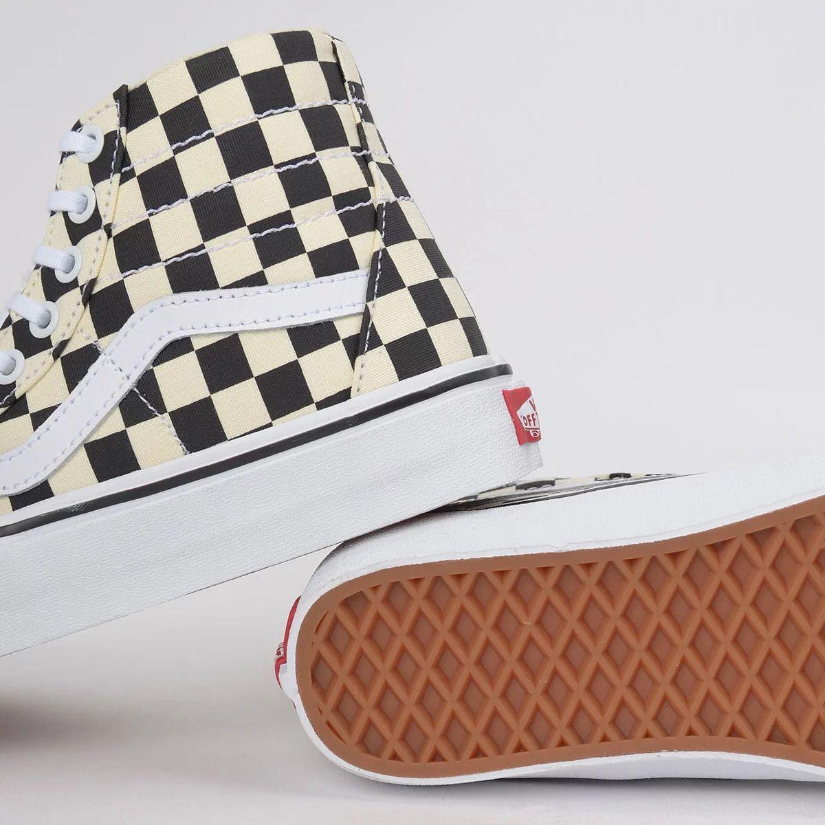 Tênis Vans Sk8-Hi Tapered Checkerboard Black True White