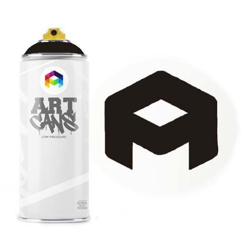 Tinta Spray Art Cans Black 400ml
