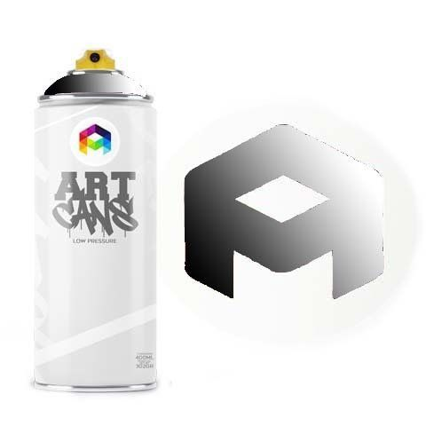 Tinta Spray Art Cans Transparent Black 400ml