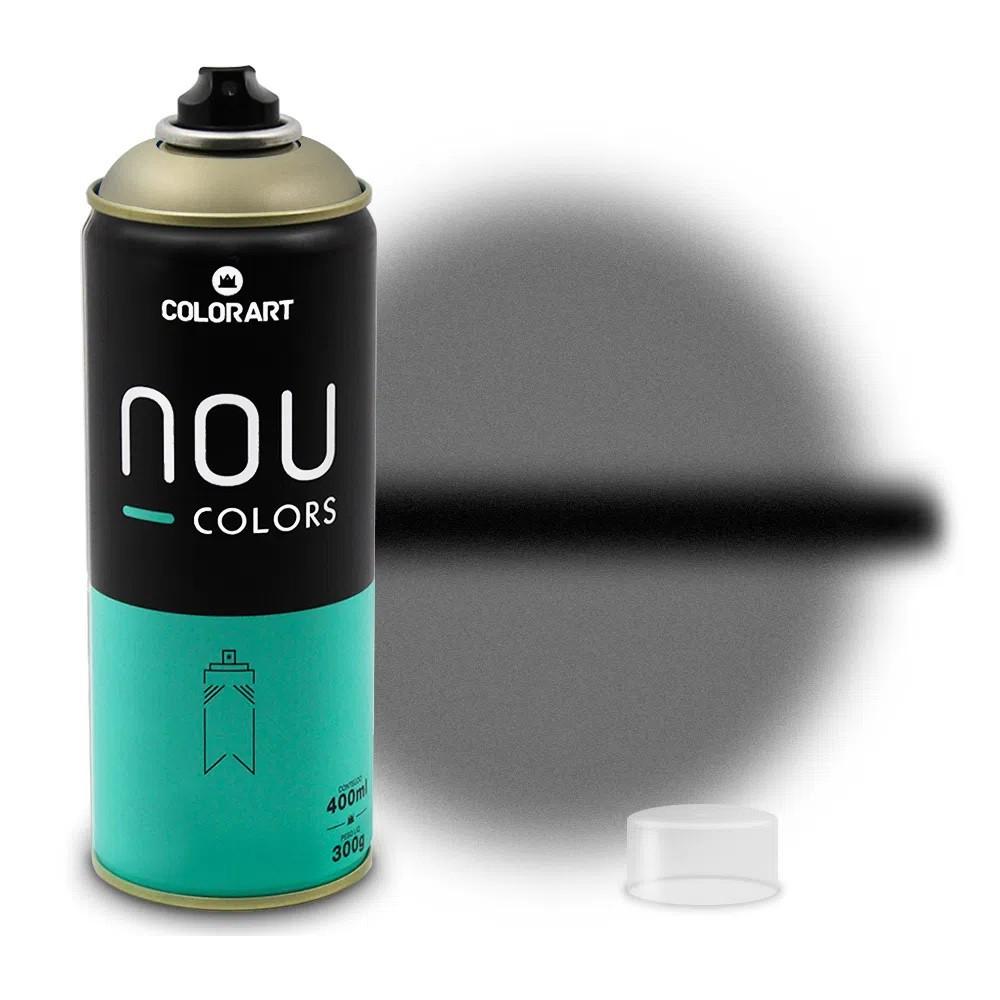 Tinta Spray NOU Preto Transparente 400ml
