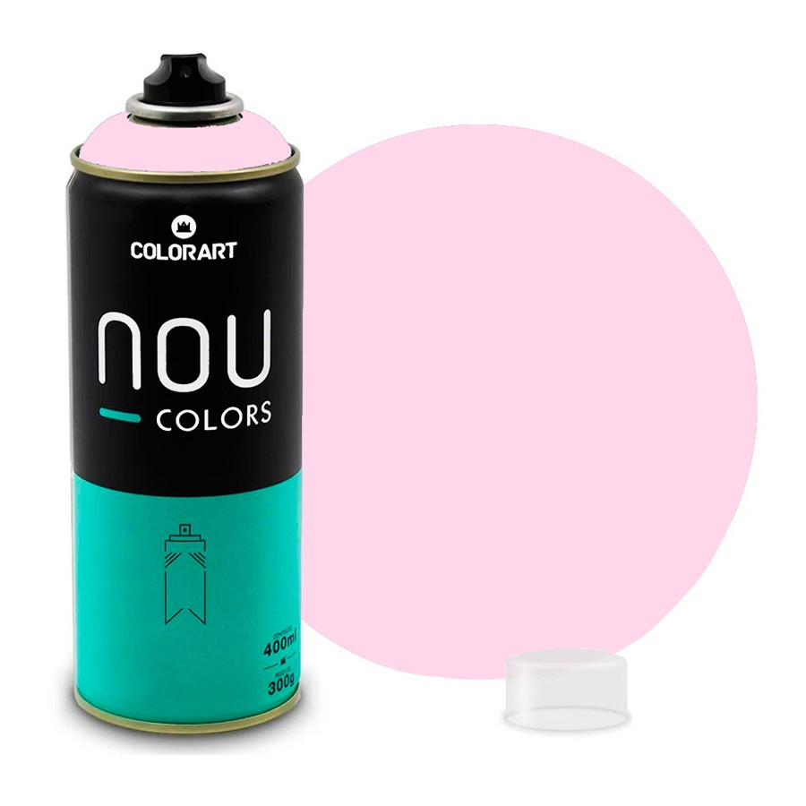 Tinta Spray NOU Rosa Bebê 400ml