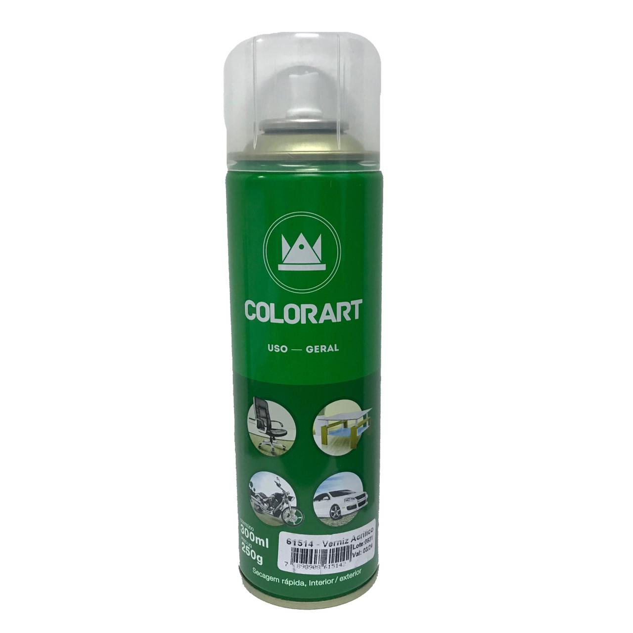 Verniz Spray Colorart Brilhante