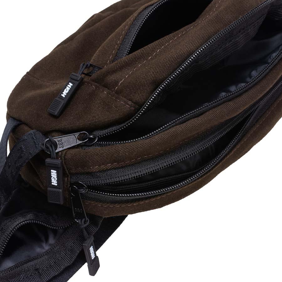 Waist Bag High Overdyed Denim Brown