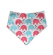 Babador Bandana - Elefantes Rosa
