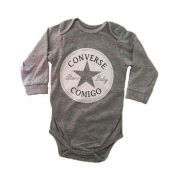 Body Converse Comigo - Cinza