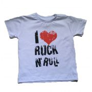 Camiseta I Love Rock - Branca