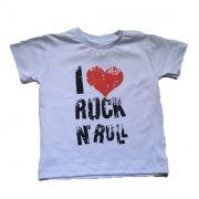 Camiseta I Love Rock - Branca